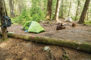 Our campsite at Dose Forks