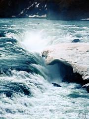 Icewater (gentle flower) Tags: iceland island icewater eiswasser waterfall wasserfall blue blau abendstimmung südküste cold