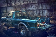 Turquoise Pickup Truck (PhotosToArtByMike) Tags: hostetterssalvageyard turquoisepickup shippensburg pennsylvania pa salvage usedparts car truck parts vehicle shippensburgpennsylvania scrapmetal boroughofshippensburg centralpennsylvania cumberlandvalley franklincounty