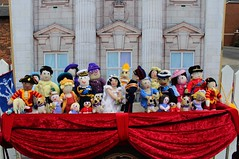 Knitted Royal Wedding (Martellotower) Tags: royal wedding prince harry meghan queen philip william katherine duchess cambridge baby louis corgis soldier princess family archbishop canterbury knitted nunthorpe railway station