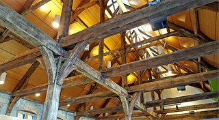 La charpente de la Halle aux viandes, Liège, Belgium