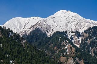 Snow capped peaks from Dawar, Gurez