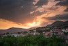 Rays (laurilehtophotography) Tags: croatia split villa brcic landscape nature town city sunset clouds view evening sun rays nikon d610 tamron 2470mm exposureblend amazing europe world photography apartment vacation holiday trip travel
