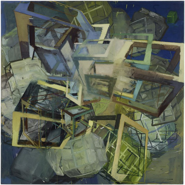 chaotic switch,120 x 120 cm, Oil/Eggtempera, 2014