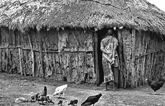 Kenya, Masai Village Life (gerard eder) Tags: world travel reise viajes africa kenya safari masaimara masai village villagelife paisajes panorama people peopleoftheworld blackandwhite blackwhite blancoynegro bw sw rural rurallife outdoor