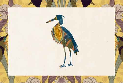 Carte postale // 10x15cm // Cigogne