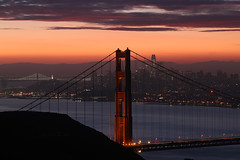 Sunrise at the Golden Gate (Omnitrigger) Tags: goldengate sanfrancisco bayarea thebay sf goldengatebridge