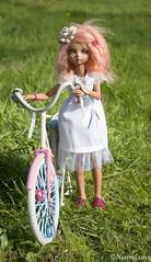 A bicyclette~ (Narmolanya A.) Tags: bjd msd bambicrony corpsminifée mnf tan custo mohair pink