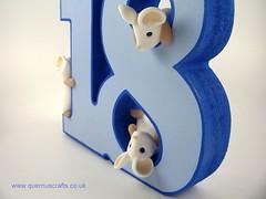 18th Birthday Mice (Quernus Crafts) Tags: polymerclay quernuscrafts cute mice 18th birthday awesomewoodengifts