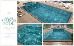 SAYO @ Fameshed - Palm Springs Pool (Kayami Osakki (SAYO)) Tags: sayo secondlife second life pool palm springs summer spring water kaysha piers kayami osakki home house decor outdoors
