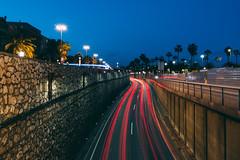 The blue hour (mougrapher) Tags: ifttt 500px long exposure lightning light painting lights luci urban exploration street cars barcelona barceloneta blue sunset cityscape architecture travel