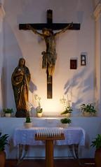 IMGP9847 Chiesa di Santa Caterina (Claudio e Lucia Images around the world) Tags: christ cross church santacaterina caterina taormina lights candles pentax pentaxk3ii sigma sigma1020 holyplaces