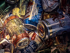 Seattle_Blue Moon_Beer Cans_Art (Zero State Reflex) Tags: seattle bar bluemoon art painting history washington pnw beer cans photography uwdistrict university