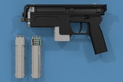 "M23A1 ""Hangover"" Machine Pistol (ABS Shipyards) Tags: lego da3 decisive action 3 machine pistol magazine cartridge shipka makarov folding stock laser sight"