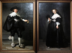 Together. For Ever (YIP2) Tags: artist art museum rijks rijksmuseum amsterdam rembrandt marten oopjen painting portraits exhibition diptych highsociety