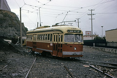 US CA San Francisco MUNI PCC 1190 4-1975 (David Pirmann) Tags: california sanfrancisco muni tram trolley streetcar transit railroad transportation pcc