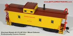 OMI 1174 Union Pacific CA-1 Wood Caboose by Jeff Lemke Trains, Inc. (Twin Ports Rail History) Tags: jeff lemke trains inc brass model train professional services ho scale overland models union pacific ca1 wood caboose custom painting weathering
