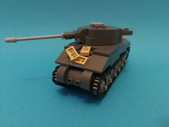 Sherman VC Firefly (Annoyed Zebra(moderately half decent, kind of alri) Tags: ww2 tank lego indoors sherman