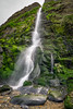 Gwalia Falls (Howie Mudge LRPS BPE1*) Tags: tresaith gwaliafalls water waterfall beach sand rocks stones boulders outside outdoors travel grass ferns overcast dull landscape nature ngc nationalgeographic wales cymru uk flickr pebbles sony sonya6000 sony1650mm sonyalphagang