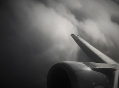 Marions Wolkenbild (roomman) Tags: 2018 cyprus larnaca warsaw poland warszawa flight jet engine wing grey fog cloud weather bw blackandwhite bandw black white contrast style design b737 737 beoing plane transport transportation aviation plan approach final curve piaseczno south lca waw airport airports lot polish airline epwa lclk spllg llg b737400 400 series 734 b734 marion wolken bild wolkenbild