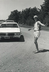 Directing Traffic at the Winnipeg Folk Festival, 1975 (vintage.winnipeg) Tags: winnipeg manitoba canada vintage history historic winnipegfolkfestival