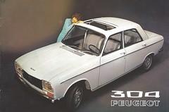 1971 Peugeot 304 (Hugo-90) Tags: peugeot 304 ads advertising brochure car auto bil voiture 1971 sweden