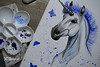 The Cold Unicorn (The Art Of Jessica Cora Benson) Tags: cold unicorn blue butterfly butterflies nature mystical mythical legends tales land