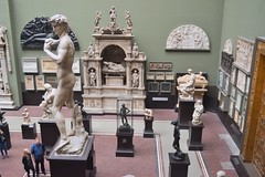 Victoria and Albert Museum, London - part of the Cast Courts, April 2018 (ketrin1407) Tags: victoriaandalbertmuseum va plastercast statue sculpture nude naked sensual erotic michelangelo verrocchio donatello david biblical museum artgallery replica london