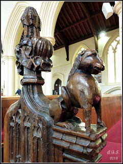 St. Peter & St. Marys Church Stowmarket. Pew Carving