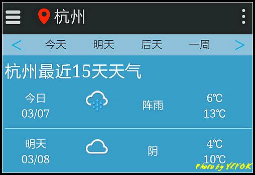 杭州 2018-03-07 天氣