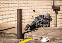DSC_1694 (~La Force~) Tags: conveniencestore alcoholic panhandler dallas dfw sleeping 711 drugs