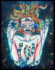 . : M A N T R A : . (EHXKOR) Tags: prismacolor illustration artwork severedlimbs limbs severed ripcage insides innards gore redhead redhair space galaxy trippy trance psytrance psychedelic media mixed art traditional mixedmedia traditionalart drawing cartoon character original originalcharacter oc