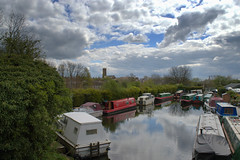 Fluffy clouds over Preston canal basin (Tony Worrall) Tags: preston lancs lancashire city england regional region area northern uk update place location north visit county attraction open stream tour country welovethenorth nw northwest britain english british gb capture buy stock sell sale outside outdoors caught photo shoot shot picture captured ashtononribble ashton weather canal lancastercanal boats clouds cloudy sky skies dock barge fluffy bright nature natural up cover season nice