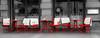 take a break - have a seat in Munich (Patrik S.) Tags: münchen munich germany deutschland schwarzweiss blackandwhite bw red rot stühle tische tables chairs relax coffeebreak pause break essen food drinks restaurant frei leer empty free panasonic adobe lightroom retro unsharp unscharf lumix fz1000 bayern bavaria dinner lunch breakfast frühstück mittagessen menu menü speisekarte gartenwirtschaft wolldecke cover kalt cold februar february winter europa europe gehsteig pavement