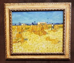Van Gogh - Moissons en Provence (larsen Detdl) Tags: france arles fondationvincentvangogh soleilchaudsoleiltardif vangogh peinture moissonsenprovence provence