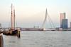 Erasmusbrug kleur (Huib Smit) Tags: erasmus erasmusbrug rotterdam maas rivier zeilboot nederland neth holland