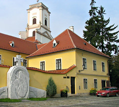 Bishop's Palace (Colorado Sands) Tags: gyor hungary centraleurope european europe hungarian sandraleidholdt building christianity religious sculpture bishopspalace bishopscastle baroque episcopalpalace northwesthungary raab