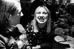 S&I Christmas dinner (Gary Kinsman) Tags: london se1 morelondon londonbridge people person bw flash blackwhite christmasdinner christmasparty workchristmasparty pose posed 2017 ballsbrothershaysgalleria ballsbrothers haysgalleria bar pub restaurant