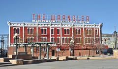 The Wrangler - Cheyenne,Wyoming (Rob Sneed) Tags: usa wyoming cheyenne thewrangler westernwear store hats boots retail independent sign vintage downtown americana historic iconic famous 1518capitolavenue brick painted roadtrip ranchwear urban