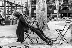 Liquid Lunch (Will.Mak) Tags: manhattan newyork newyorkcity nyc nyclife streetphotographynyc blackandwhite monochrome bryantpark lunch afternoon nap sony ilce7rm3 fe 2470mm f28 gm sonyilce7rm3 fe2470mmf28gm 2470mmf28