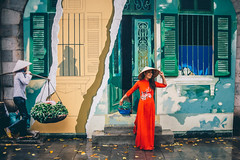 Lyn modelling in a red Ao Dai traditional Vietnamese Dress (Paul D'Ambra - Australia) Tags: lalentephotography aodai dress hanoi model pauldambra reddress sexywomaninreddress temple traditionaldress vietnam vietnamesetraditionaldress woman womaninreddress womaninreddressintemple womanwithniceboobiesinreddress hànội