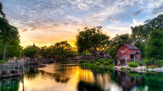 Magic Kingdom - Sunset on the River