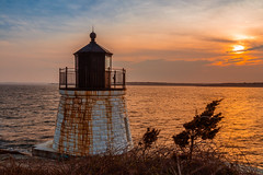 Newport Sunset 2018 - The Beginning (ProPeak Photography - Thanks for 600,000 views!) Tags: america architecture blue bluesky buildings castlehilllighthouse clouds famousplace internationallandmark lighthouse narragansettbay nationalhistoriclandmark nationalregisterofhistoricplaces nature newport northamerica orange places rhodeisland rocks shoreline spring sunset touristattraction traveldestination travelandtourism usa unitedstates water yellow