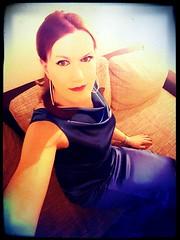 Thank you! (Rikky_Satin) Tags: silk satin dress crossdresser crossdressing transformation m2f mtf transgender tgirl