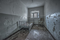 A chair and a bed. That's all I need... (Geppestein) Tags: urbex urbanexploring hdr decay abandoned prison germmany deutschland nikon d800