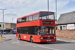 Coastal Red (Lynx) Kings Lynn UWW2X. (EYBusman) Tags: coastal red kings lynn independent bus coach lynx station norfolk spectra day vdl db250 ipswich buses x153lbj eybusman optare uww2x