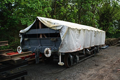 986348 Wishaw 090518 (Dan86401) Tags: 986348 db986348 zbo grampus fishkind br open ballast wagon freight infrastructure engineers departmental civilengineer cambrian moverightinternational wishaw