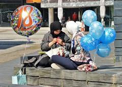 Cardiff Bay (2) (howell.davies) Tags: people teenagers teens birthday balloons cardiff bay wales uk nikon d3200 55300mm candid street