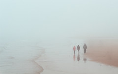 Wandering souls (The Black Fury) Tags: people fog beach seascape sea water light sand normandie france