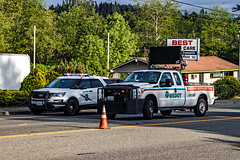 Washington State Patrol On Scene of Vehicle vs Motorcycle Crash 05/16/18 (andrewkim101) Tags: bothell wa snohomish county washington state patrol wsp ford police interceptor utility suv wsdot department transportation incident response team